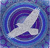ZSNUOK 5D DIY Diamond Painting by Number Kit for Adults or Kids, Full Special Shaped Drill Embroidery Art Craft Mosaic Making Supplies Paint with Diamonds for Home Wall Decor Flying Eagle 12x12 inches