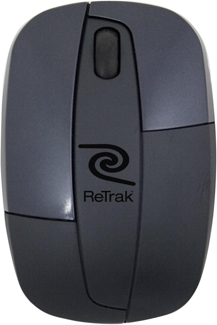 ReTrak Retractable Laser Mouse, Black (ETMOUSELB)