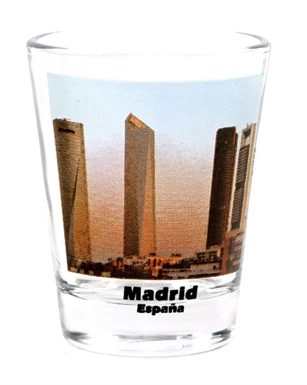 Madrid España City rascacielos a color de la ciudad: Amazon.es: Hogar