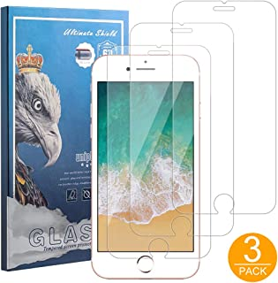 3 Pack Screen Protector HD Clear 9H Hardness Tempered Glass Film for iPhone 6 Plus iPhone 7 Plus iPhone 8 Plus 5.5 inch