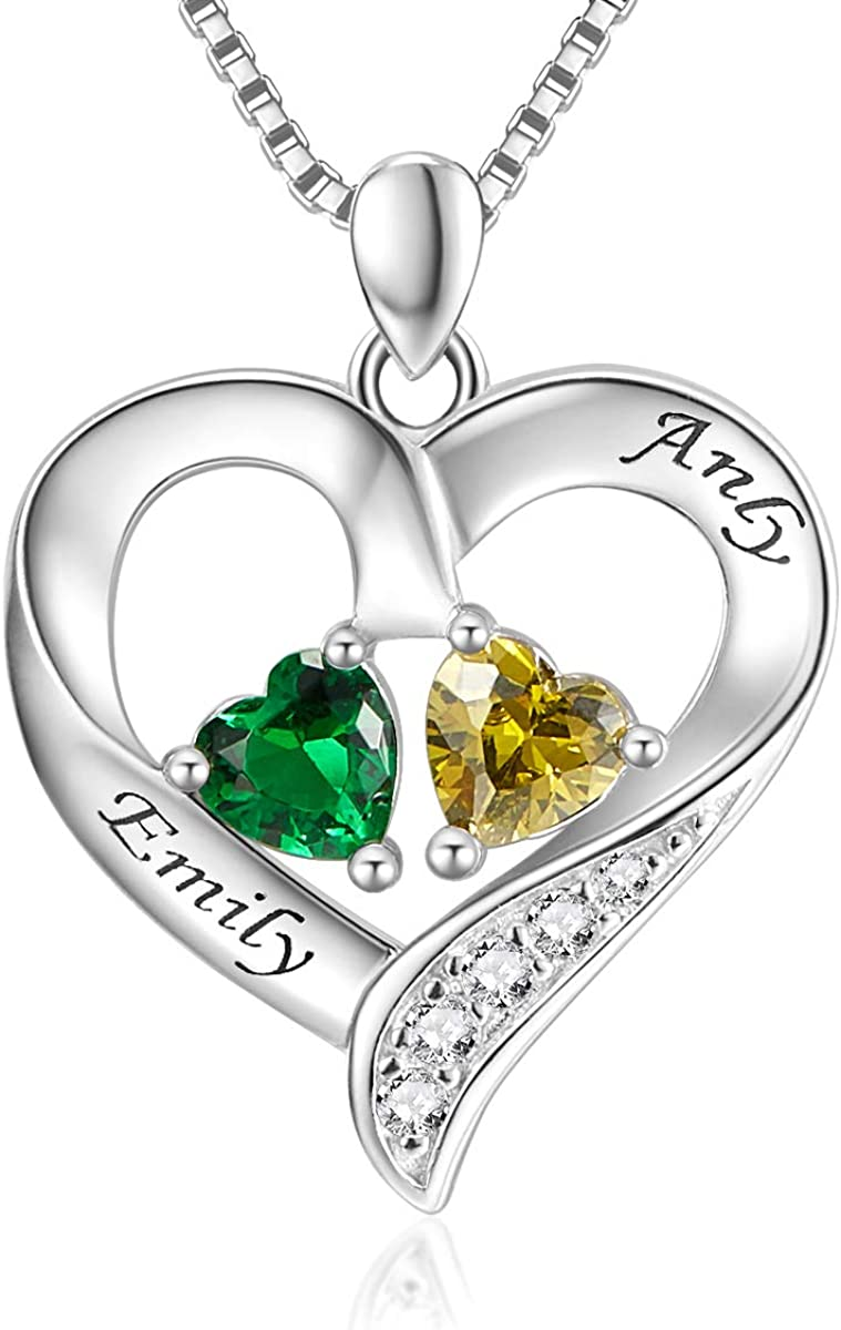 925 Sterling Silver Personalized 2 All stores are sold Simulated Ranking TOP5 En Heart Birthstone