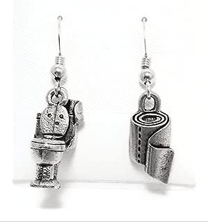 toilet earrings
