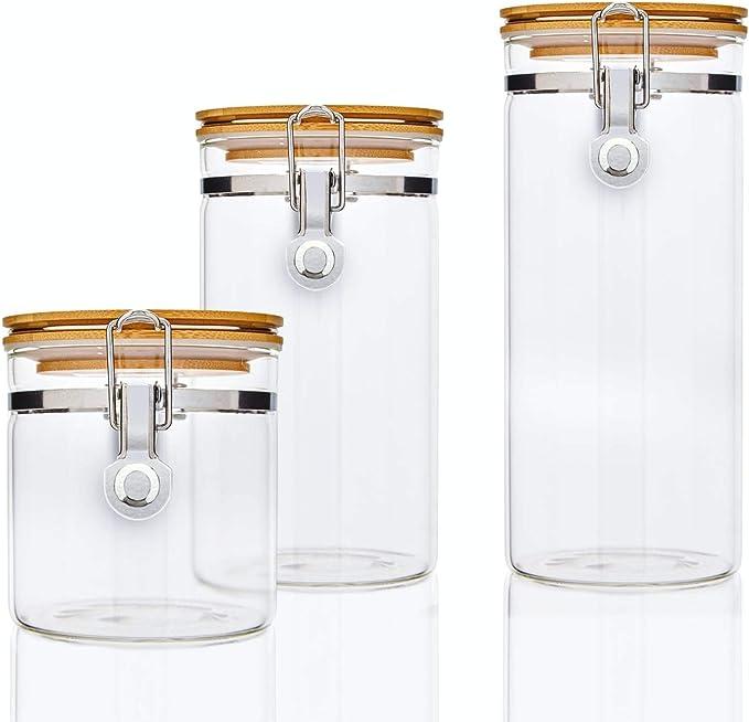 17 opinioni per bambuswald© Set 3 barattoli in vetro borosilicato rinforzato con coperchio