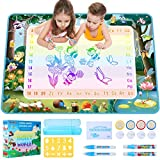 GAMZOO Water Doodle Mat 40 X 32 Inches Aqua Magic Coloring Mat, Mess-Free Drawing Painting Toddlers Kids Toys Educational Birthday Chirstmas Gifts for Boys & Girls Age 2 3 4 5 6 Years Old