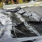 ZHANGYUQI Garten Pools Membran, HDPE Teich Liner, Sonnenschutz Regenschutzfest Feuchtigkeitsundurchlässige PVC-Teich-Skins, Für Gartenfischteich(Size:2x4m,Color:Schwarz)