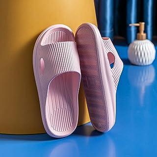 ypyrhh For Men Non-Slip Flip Flops,Mask soft bottom,bathroom home sandals-Pink_44/45,Toe Low Wedge Heel Sandal Shoes