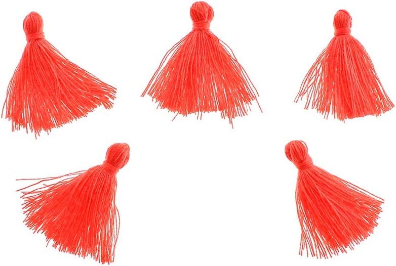 Challenge the lowest price Bohemian Findings Max 90% OFF 5 Fuschia Cotton Tassels Z144 25mm to - 30mm