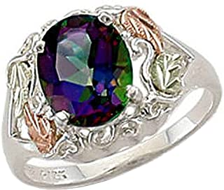 Landstroms Ladies Black Hills Silver Mystic Fire Topaz Ring - MRLLR625-471