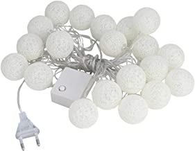 220V 3,7m 20 katoenen draadballen LED-lichtsnoer Kerst binnennachtlampstrip(Beige)