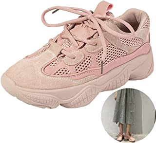 Running Shoes Fashion Simple Ladies Sneakers Breathable Mesh Running Shoes Spring Walking Shoes (Color : Pink, Size : 6)
