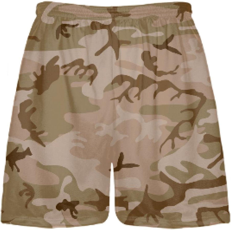 LightningWear Desert Camo Lacrosse ShortsDye Sublimated Camouflage ShortsBoys Camo ShortsMens Camo Shorst