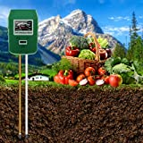 AmuseNd Soil PH Tester 3-in-1 Moisture/Light/PH Test Kit Digital Soil Ph Meter for Garden Farm Lawn Indoor Outdoor Solar Tech Soil Ph Sensor Lawn Soil Test Kit