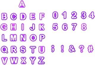 40PCS Alphabet Letter Number Fondant Cake Biscuit Baking Mould Cookie Cutters Comic Burst Cookie,WIDN039