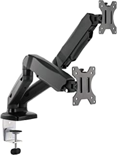 WALI Dual LCD Monitor Fully Adjustable Gas Spring Desk Mount Fit 2 Screens VESA up to 27 inch, 14.3 lbs. Weight Capacity p...