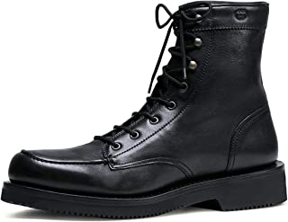 2ad8038b86a Gucci Men s Black Leather Interlocking G Lace up Boots 352955