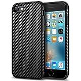 Tasikar Compatible with iPhone SE 2020 Case/iPhone 7 Case/iPhone 8 Case Carbon Fiber Leather Design Slim Case (Black)