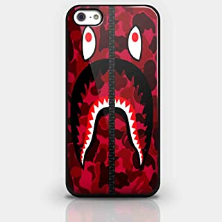 Bape Shark Red Army Pattern for Iphone and Samsung Galaxy Case (iPhone 5/5s Black)