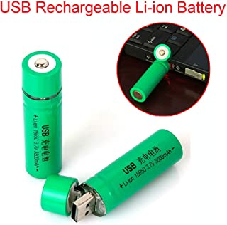 1pc Button top18650 Rechargeable Battery USB plug 3.7V 3800mAh Li-ion batteries for Flashlight Torch fan toys