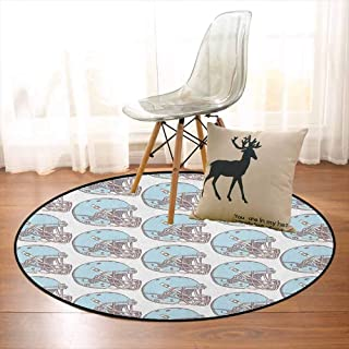 American Football Non-Slip Absorbent Carpet Sketchy Style Safety Protection Vintage Pattern American Athletics for Floor Carpets D35.4 Inch Aqua Grey Cream