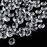 OUTUXED 1000pcs 0.4inch Clear Wedding Table Scattering Crystals Acrylic Diamonds Wedding Bridal Shower Party Decorations Vase Fillers