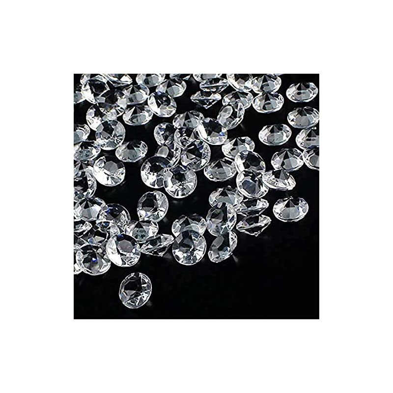 silk flower arrangements outuxed 1000pcs 0.4inch clear wedding table scattering crystals acrylic diamonds wedding bridal shower party decorations vase fillers