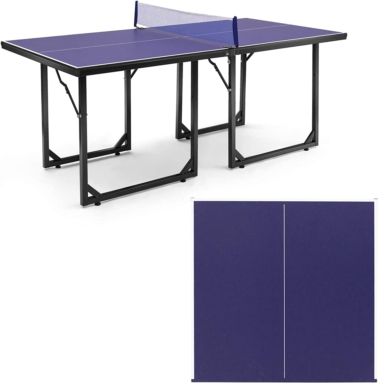GYMAX Max 45% OFF Folding Table San Jose Mall Tennis Portable Free Min Installation