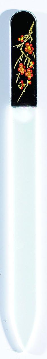 敬意を表して故国分類橋本漆芸 ブラジェク製高級爪ヤスリ 二月 梅 OPP