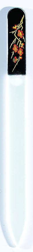 報奨金上院大量橋本漆芸 ブラジェク製高級爪ヤスリ 二月 梅 OPP
