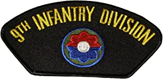 9TH INFANTRY DIVISION with CREST PATCH - Great Color - Veteran Owned Business