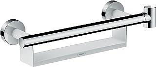 hansgrohe 26328400 Unica Comfort Barre d'appui avec étagère et Support de Douche Blanc/chromé
