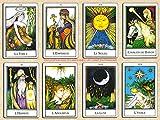 Le Nouveau Tarot Palladini - Jeu de 78 Cartes - Cartes de voyance avec Explication des 78 Lames (livret en FR de 40 Pages) - Un Fabuleux Outil d'introspection - Jeu de Tarot Divinatoire à découvrir