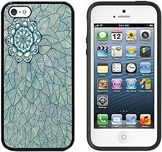 iPhone SE Case, DOO UC (TM) Ultra Protective Cases For Apple iPhone SE (2016) & iPhone 5S 5 Black Case - Retro Aztec flower printed