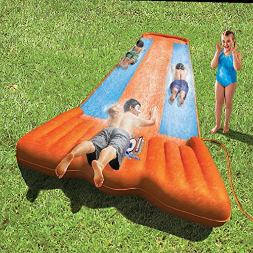 XXCLZ Inflable del Aerosol de Agua de Verano los niños juegan Juegos de césped Agua Mat Pad Doble Cara de riego Juguetes del Juego al Aire Libre Piscina de hidromasaje 549cm,5.49M