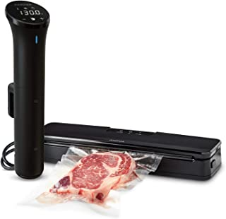 Anova Culinary | Sous Vide Precision Cooker Nano (750 Watts) & Vacuum Sealer Accessory | Bundle | Anova App Included