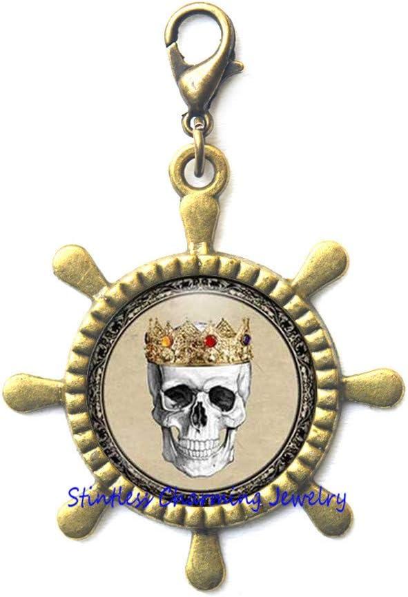 Medical Rudder price Zipper Pull Royal Skull Lobster Cro Clasp Antique Luxury goods