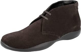 Prada Men's 4T3152 054 F0192 Leather Lace-up Shoes