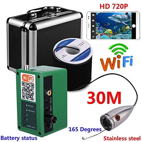 Video-opname, onderwatercamera, HD, wifi, draadloos, voor iOS Android app, ondersteunt video-opname en foto-opnames, met camera 1000TVL