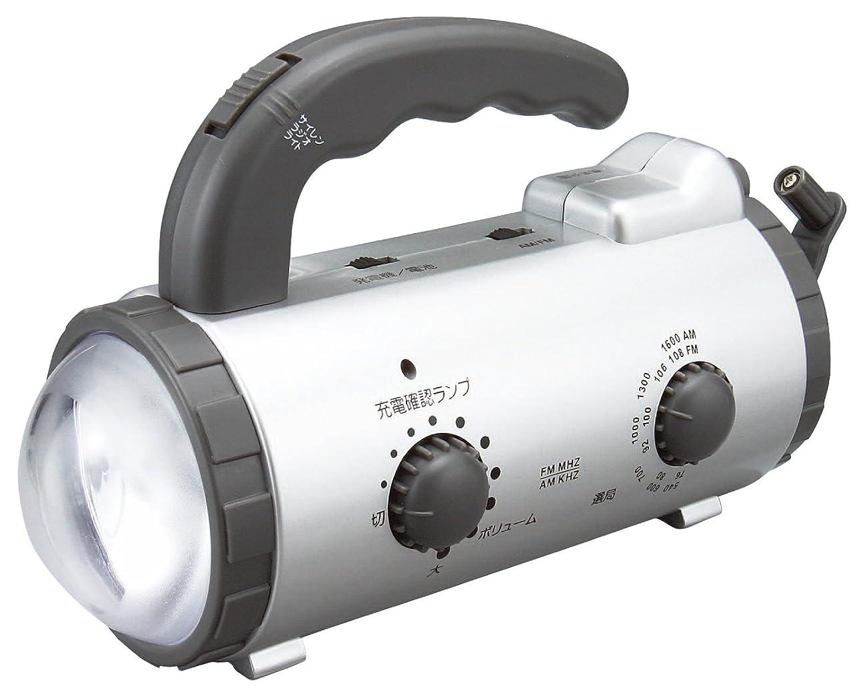 圧倒的ライド案件アイリスオーヤマ 防災グッズ 手回し充電ラジオライト JTL-20