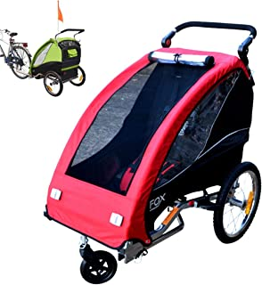 comprar comparacion Papilioshop Fox - Remolque con carrito de bicicleta para el transporte de 1 niño (incluye rueda delantera giratoria, plega...