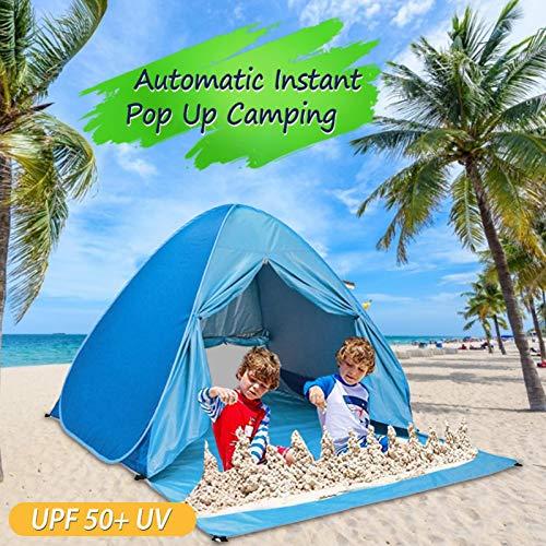 Tienda De Playa Emergente, Carpa Plegable Anti-uv Instantánea Automática Toldo Portátil De Apertura Rápida Al Aire Libre Shade Sun Shelter, Con Bolsa De Transporte Para Acampar En La Playa