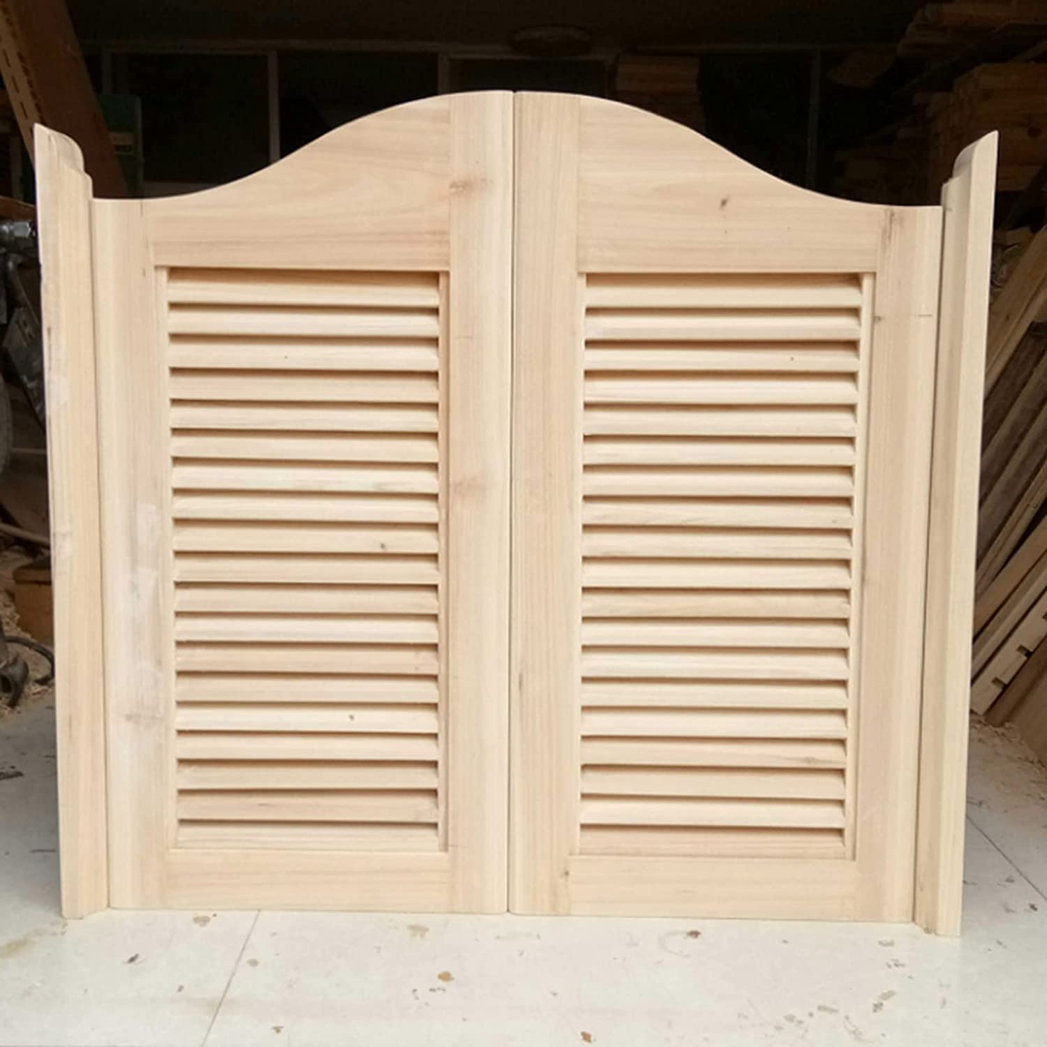 Cafe Swinging Doors Unfinished Louvered Bar Bombing free shipping Sales for sale Wooden Saloon Cowboy