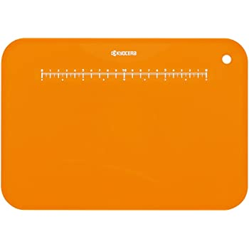 京セラ 日本製 まな板 約 30×20 cm オレンジ 抗菌 まな板立て 付き 柔らかい 薄い 軽い Kyocera CC-99 OR