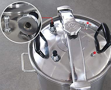 Westinghouse Stainless Steel Pressure Cooker & Canner, 53.5 Quart, Silver