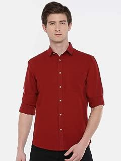 Chennis Men's Burgundy Casual Shirt