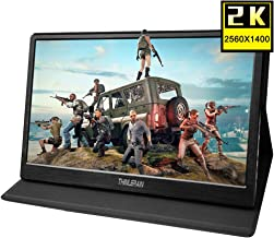 Thinlerain 13.3 Inch Portable 2K Gaming Monitor with HDMI, 2560 x 1440 IPS LED Screen USB Powered Monitor for Raspberry pi 3 b+ PS3 PS4 Windows 7 8 10 (Double HDMI, USB Powered, Built in Speaker)