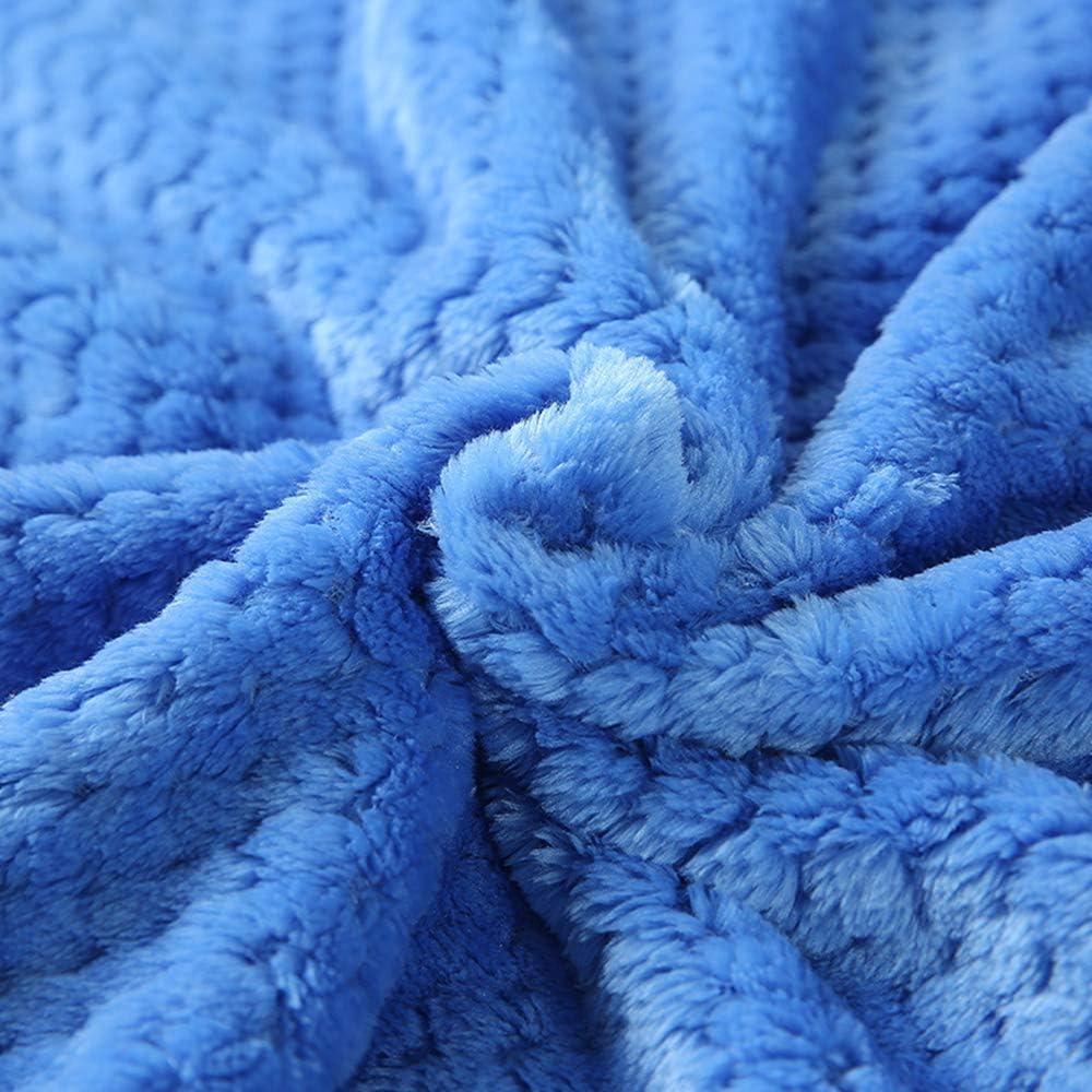 Pronghorn Damen Klassische Herbst/Winter Bademantel, Waffel Typ Saunamantel, Flanellgewebe Größe M-XL, viele Farben, Perfekt für Loungewear Nachtwäsche Spa Blau