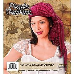 Bristol Novelty BA1602 Velvet Female Pirate Bandana for Fancy Dress, Womens, One Size #1