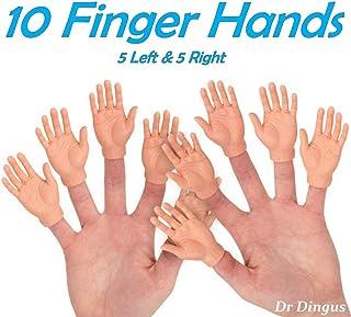 DR DINGUS Finger Hands - Set of 10