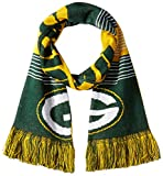 Forever Collectibles NFL Green Bay Packers Reversible Split Logo Scarf, Green, One Size