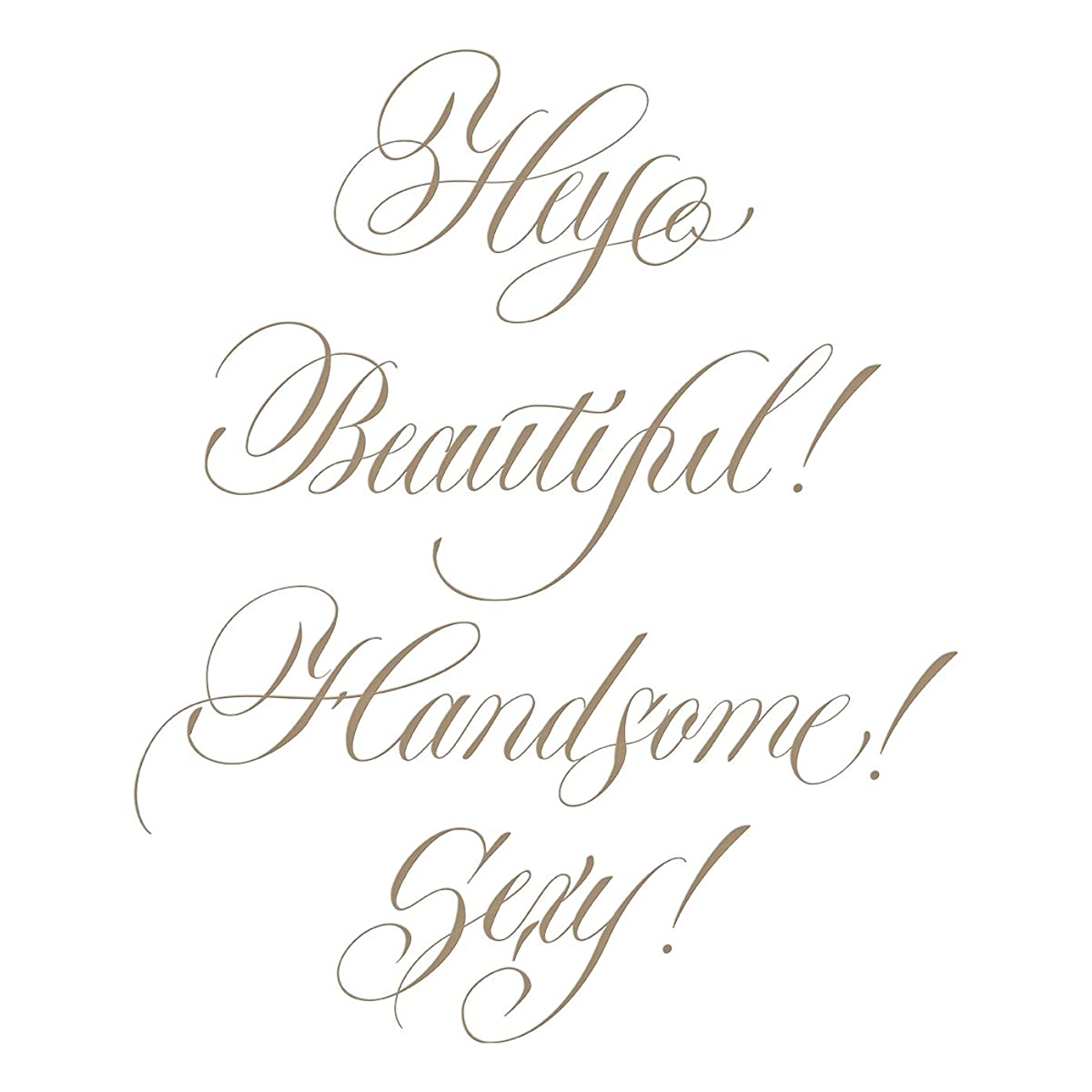Spellbinders GLP-109 Hey Beautiful! Glimmer Hot Foil Plate Metal